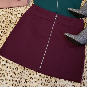 Plum purple mini skirt